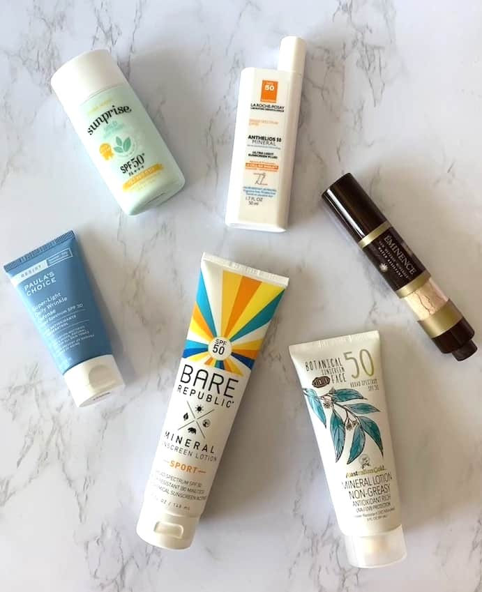 mineral sunscreens