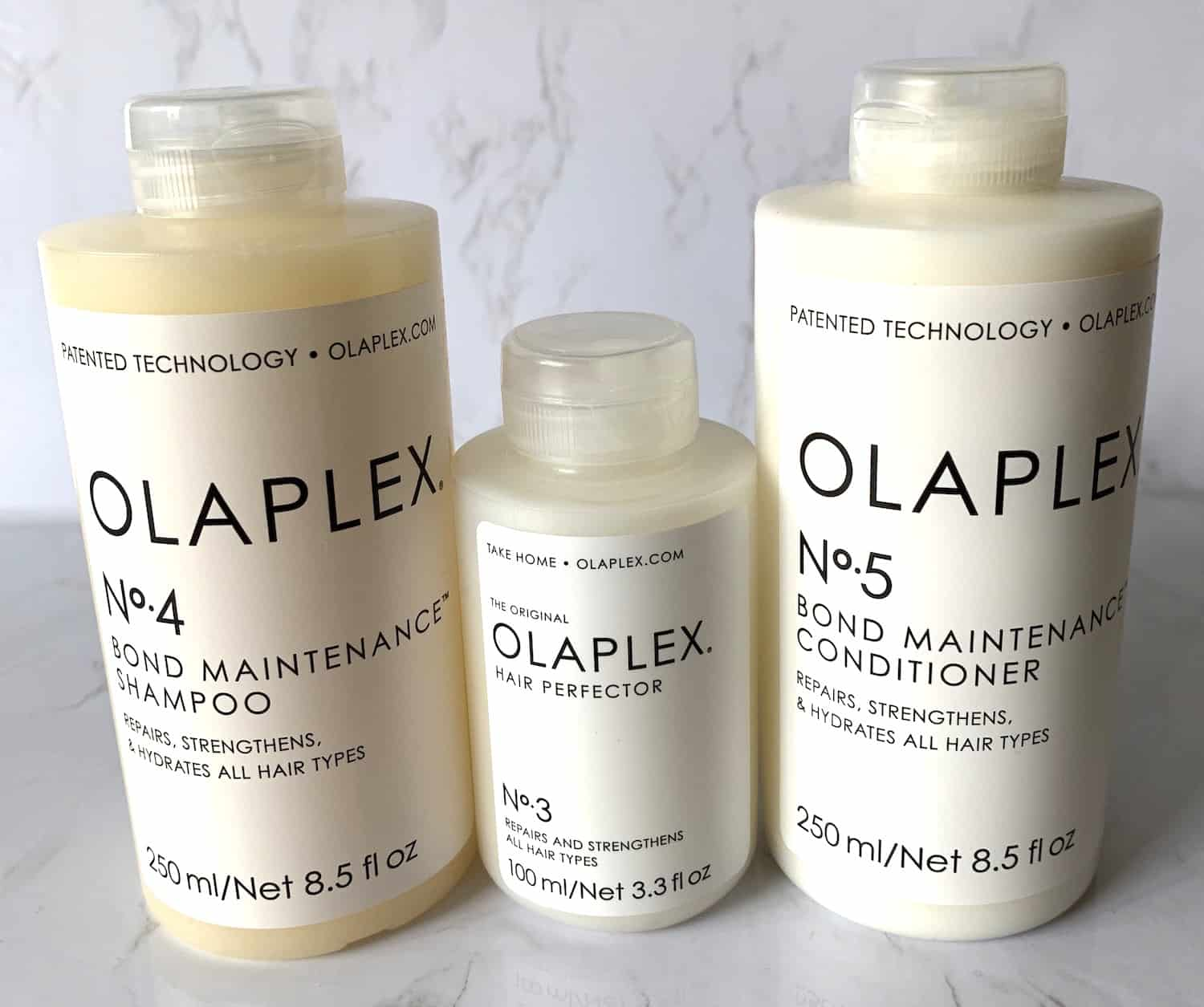 Olaplex Bond Maintenance Shampoo Conditioner and Hair Perfector