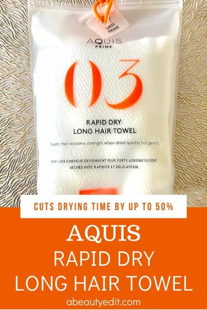 Aquis Rapid Dry Long Hair Towel That Cuts Drying Time by up to 50%