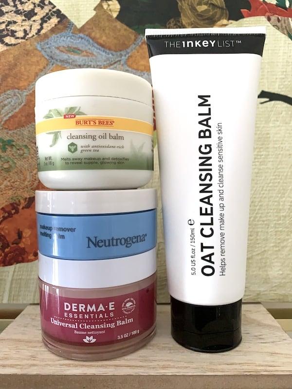 Drugstore Cleansing Balms, The Inkey List, Burts Bees, Neutrogena and Derma E