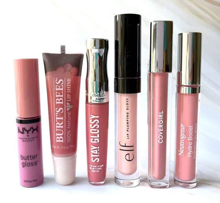 6 Pretty Pink Drugstore Lip Glosses