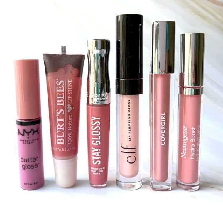 6 Pretty Pink Drugstore Lip Glosses