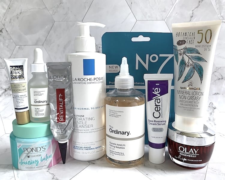 Drugstore Anti-Aging Essentials - Skincare Products