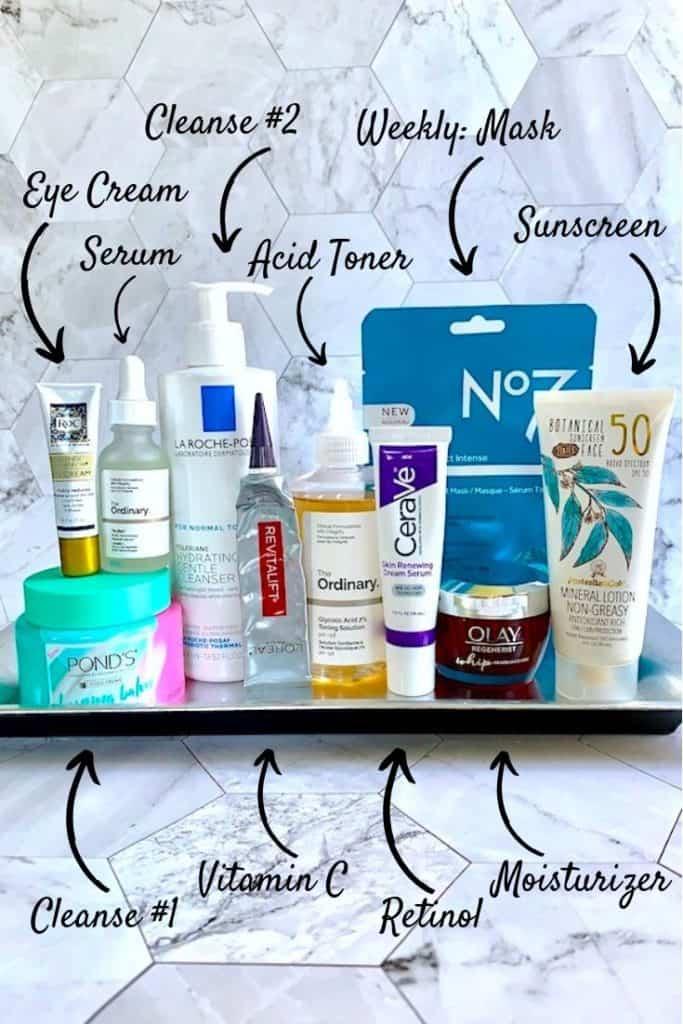 Drugstore Anti-Aging Skincare Essentials
