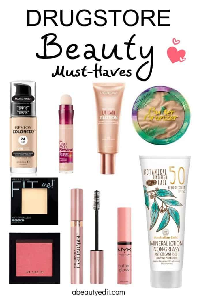 Drugstore Beauty Must-Haves Collage