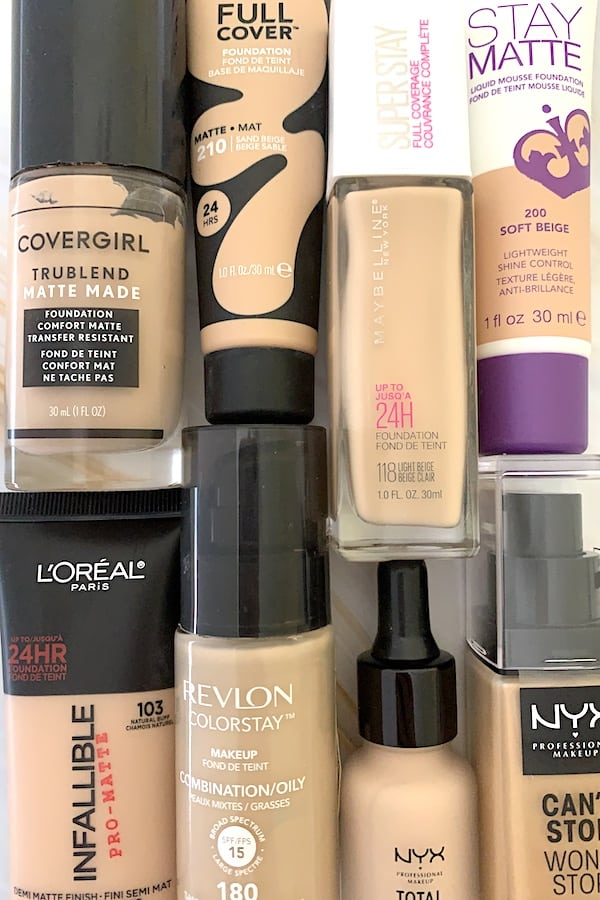 Drugstore full coverage foundations for oily skin