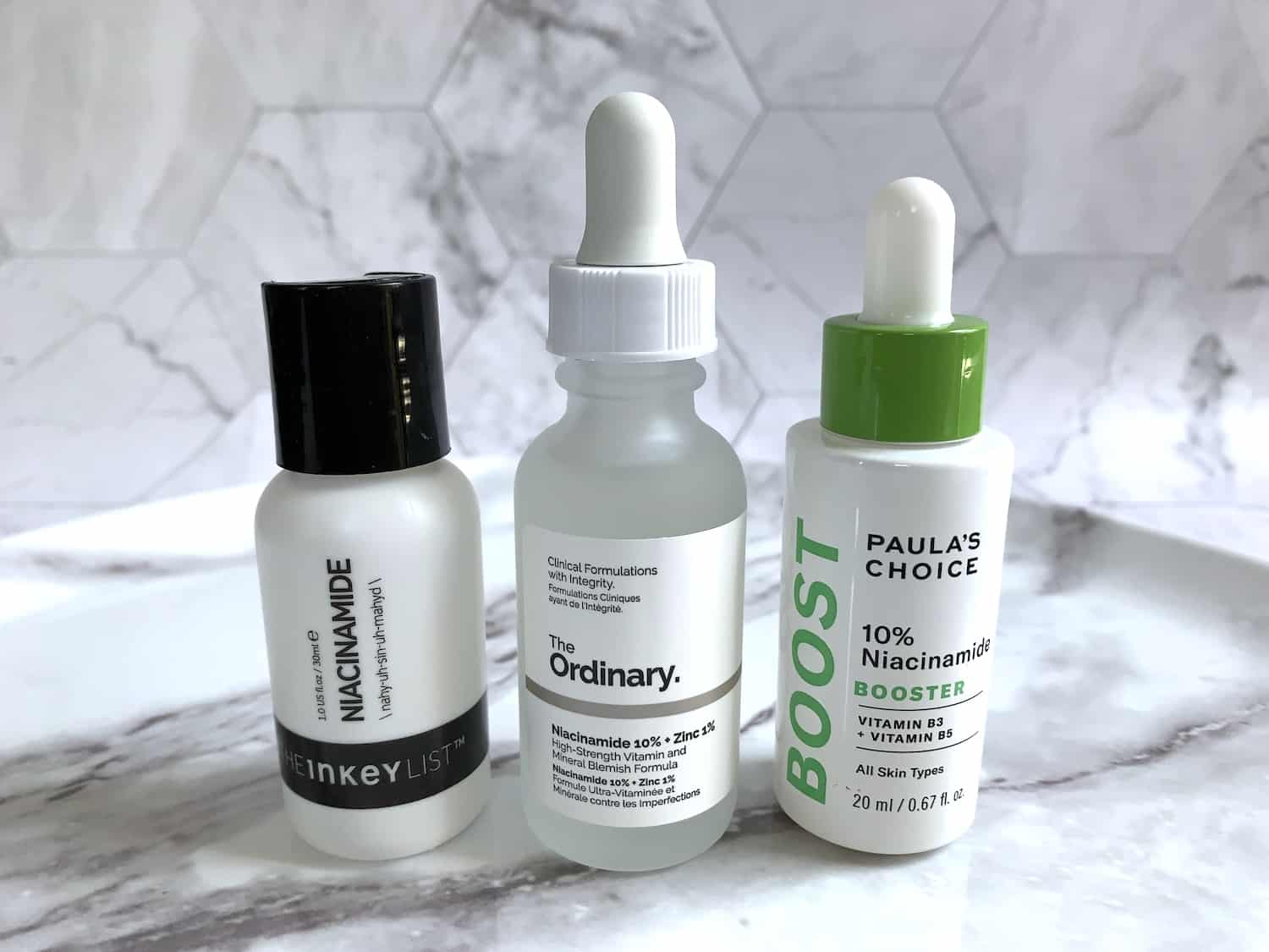 Niacinamide - The Ordinary, The Inkey List & Paula's Choice