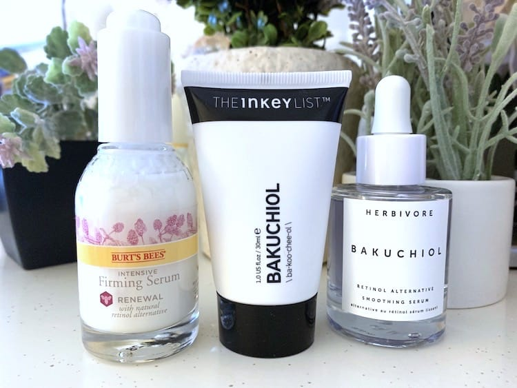 Burt's Bees, The Inkey List and Herbivore Bakuchiols