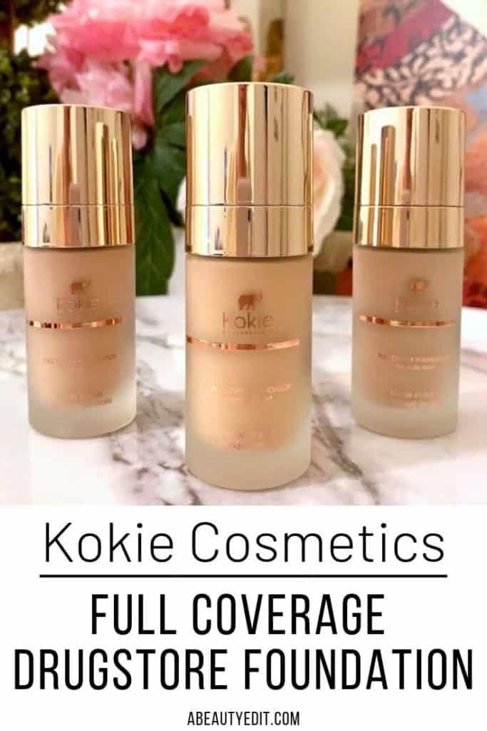 Kokie Full Cover Drugstore Matte Foundation 20C, 20W & 30W