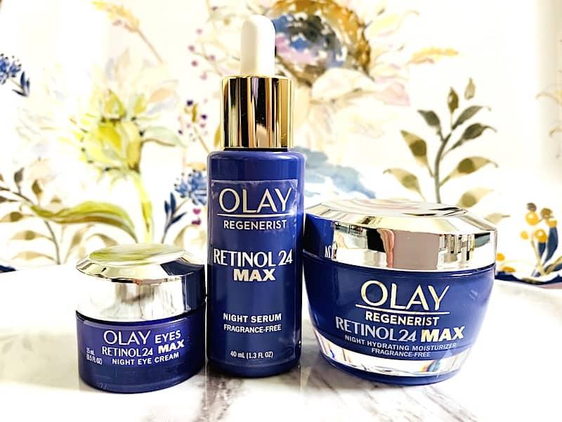 Olay Regenerist Retinol 24 Max Night Serum, Eye Cream & Moisturizer