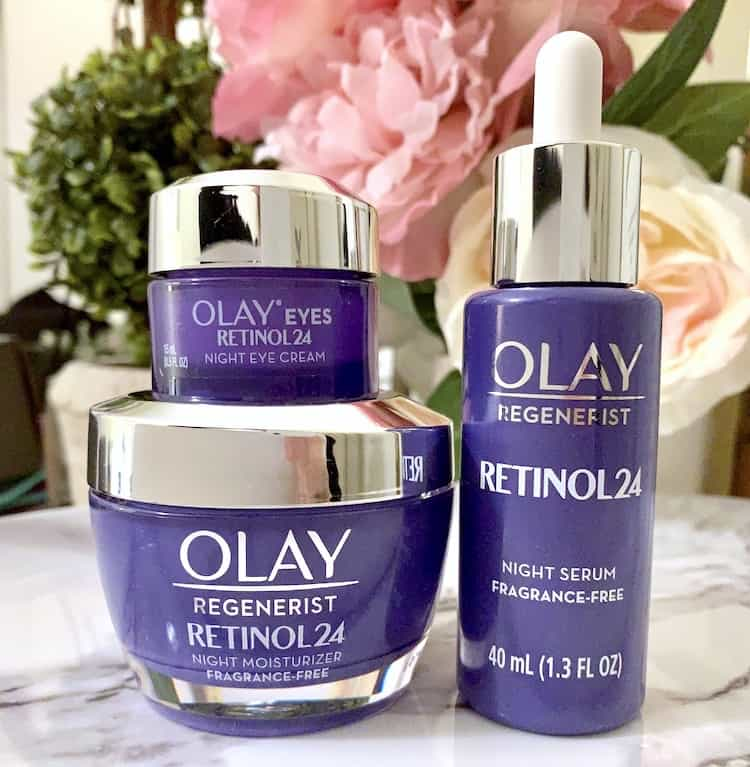Olay Retinol 24 Night Serum Eye Cream Moisturizer Skincare Review A Beauty Edit