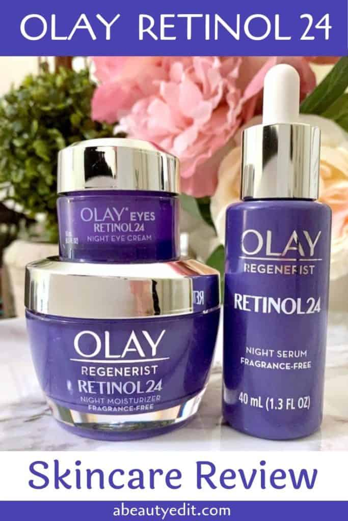 Olay Retinol 24 Night Serum Eye Cream Moisturizer Skincare