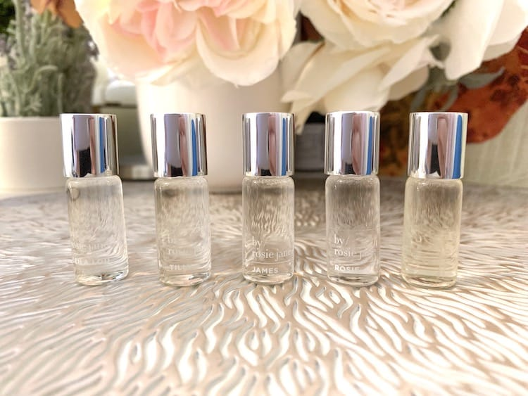 By Rosie Jane Clean Fragrance Discovery Set Lined Up