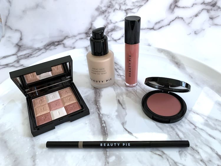 Beauty Pie Makeup - Foundation, Blush, Highlighter, Eyebrow Pencil and Lip Oil