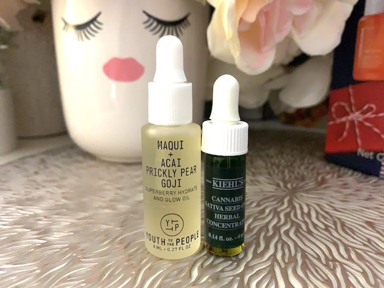 Kiehls Cannabis Sativa Seed Oil and Youth to the People Glow Oil