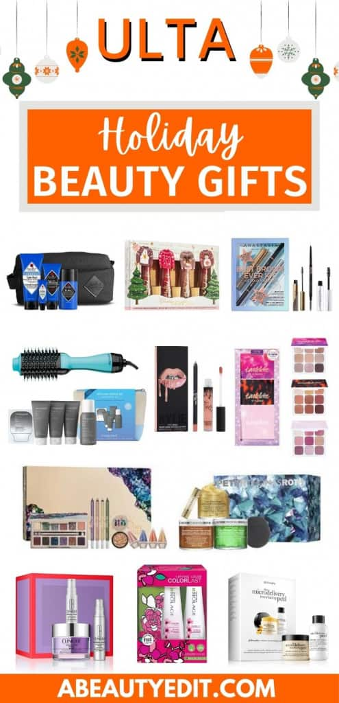 Ulta Holiday Beauty Gifts: Makeup, Skincare and Haircare Collage