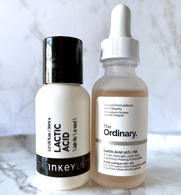 The Inkey List Lactic Acid Serum vs. The Ordinary - Budget Skincare Comparison