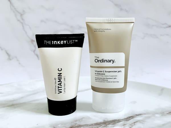 The Inkey List Vitamin C Cream vs The Ordinary Vitamin C Suspension 30% in Silicone