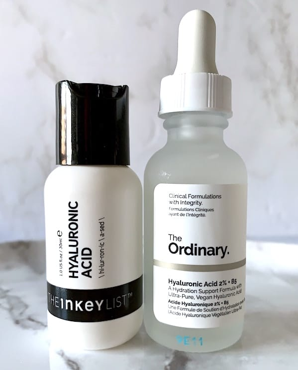 The Ordinary & The Inkey List Hyaluronic Acid Serums