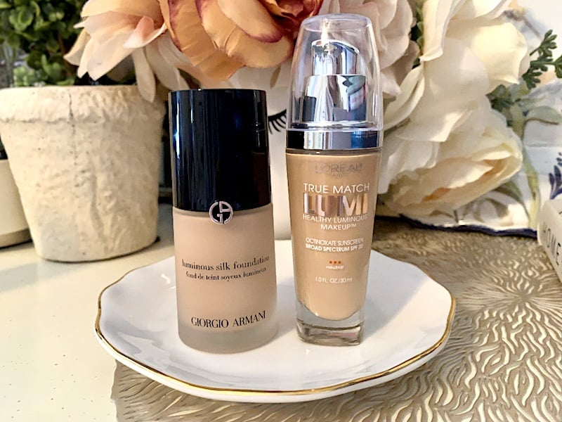 Giorgio Armani Luminous Silk Foundation and L'Oreal True Match Lumi Healthy Luminous Makeup