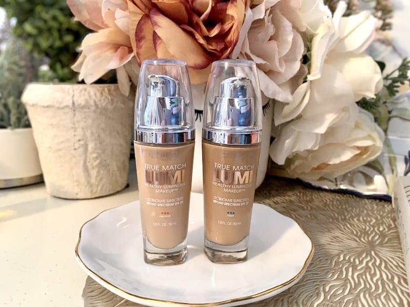 2 L'Oreal True Match Lumi Healthy Luminous Makeup