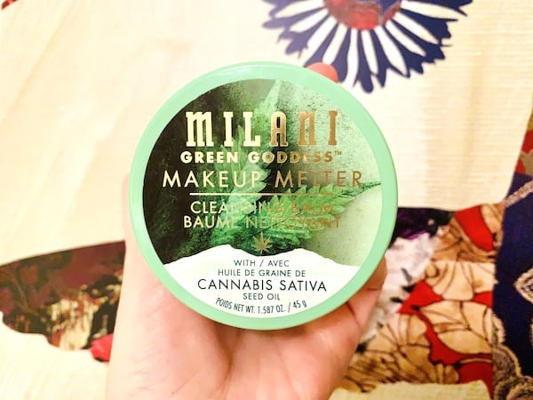Milani Green Goddess Makeup Melter Cleansing Balm with Cannabis Sativa Seed Oil