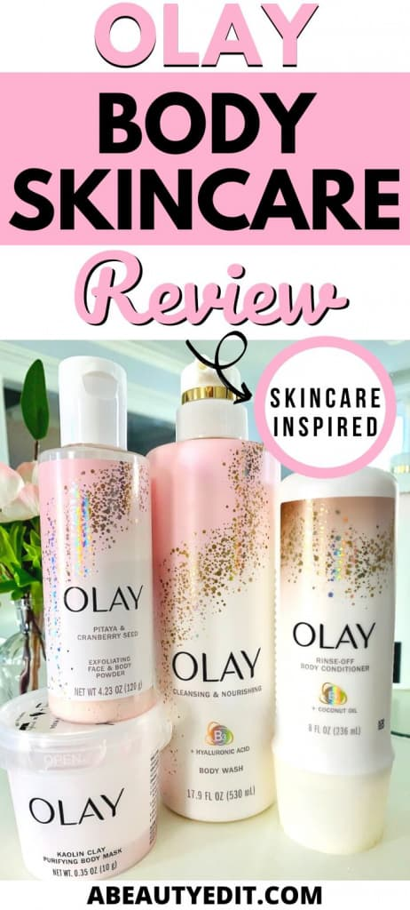 Olay Body Skincare Cleansing and Exfoliating Products
