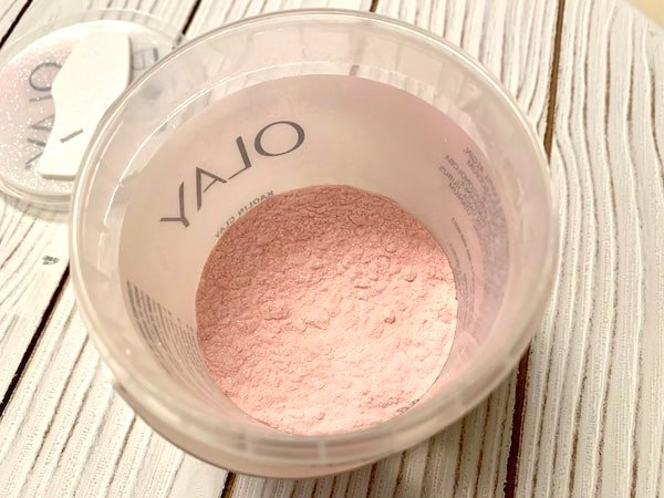 Olay Kaolin Clay Body Mask Opened in Powder Form