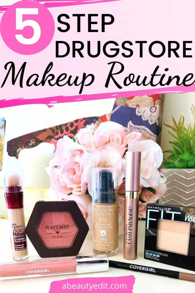 Easy 5 Step Natural Drugstore Makeup Routine