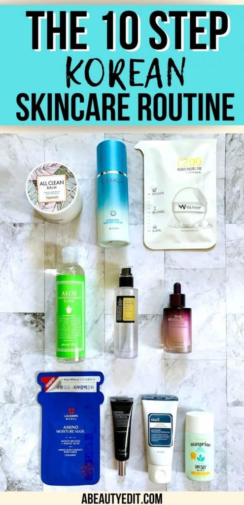 The 10 Step Korean Skincare Routine Products