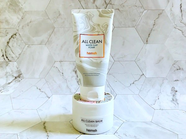 Heimish All Clean Balm and Heimish All Clean White Clay Foam
