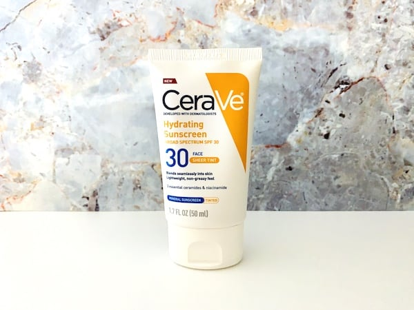 CeraVe Hydrating Sunscreen SPF 30 Face Sheer Tint