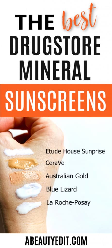 The Best Drugstore Mineral Sunscreens - Sampled on Hand