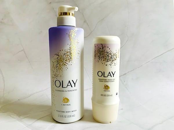 Olay Retinol Body Wash and Body Conditioner