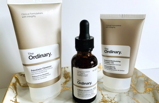 The Ordinary Squalane Cleanser, The Ordinary Caffeine Solution 5% + EGCG and Natural Moisturizing Factors + HA