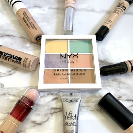 The Best Drugstore Concealers for Dark Circles Under the Eye on Circle Tray