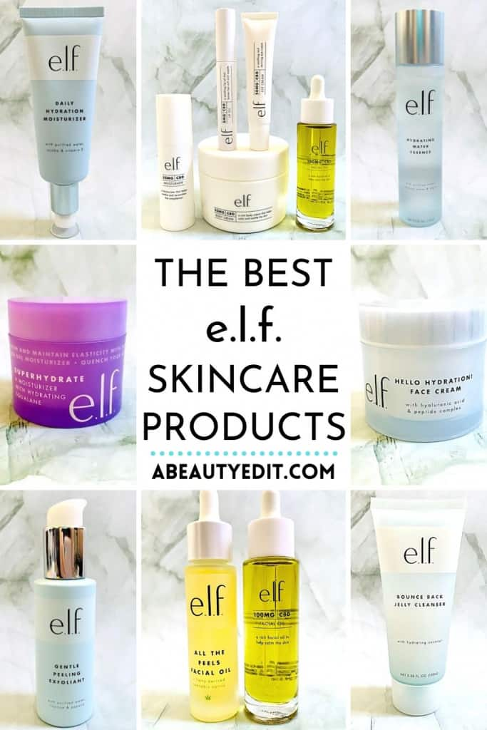 The Best e.l.f. Skincare Products Collage