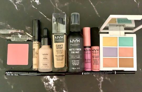 Best of NYX Drugstore Makeup Flatlay