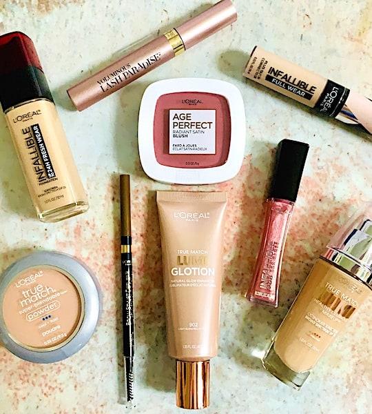 L'Oreal Paris Cosmetics Durgstore Makeup Flatlay