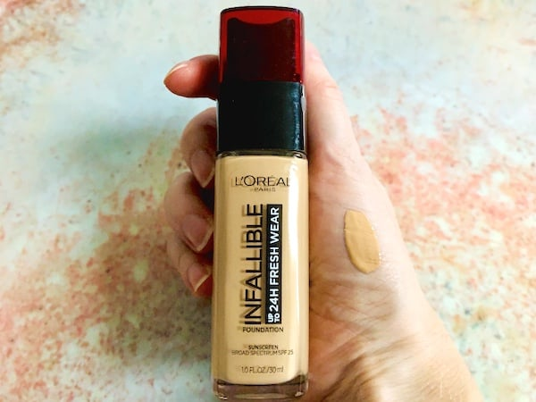 L'Oreal Paris Makeup Infallible Up to 24 Hour Fresh Wear Foundation Swatched on Hand