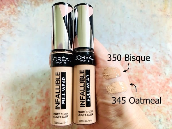 L'Oreal Infallible Full Wear Concealer Swatched on Hand