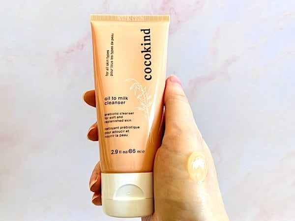 Cocokind Oil to Milk Cleanser with Swatch