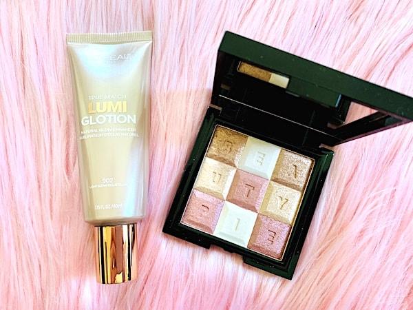 L'Oreal True Match Lumi Glotion Highlighter & Beauty Pie Shimmerbar Highlighter