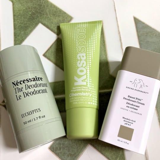 Necessaire, Kosas, and Drunk Elephant Natural Acid Deodorants Review