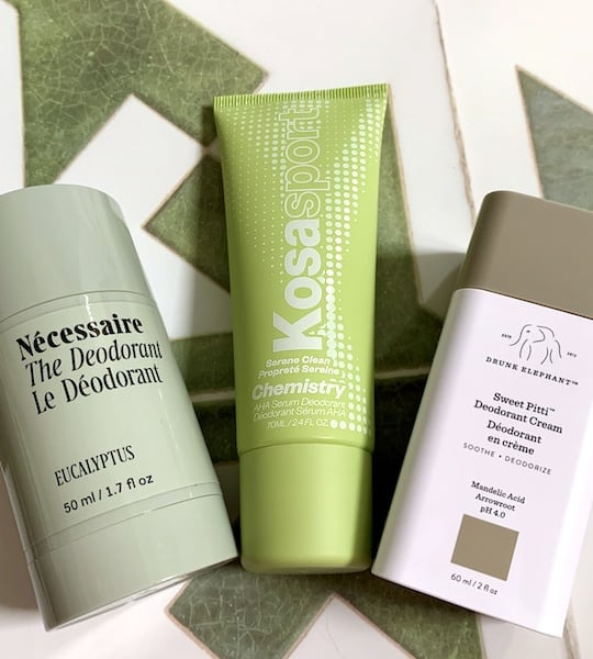 Necessaire, Kosas, and Drunk Elephant Natural Acid Deodorants Review