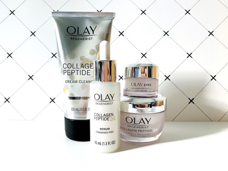 Olay Regenerist Collagen Peptide 24 Skincare - Cream Cleanser, Serum, Eye Cream & Moisturizer