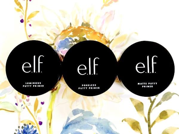 e.l.f. Cosmetics Poreless Putty Primer, Matte Putty Primer, and Luminous Putty Primer