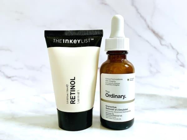 The Inkey List Retinol Serum vs The Ordinary Granactive Retinoid 2% Emulsion