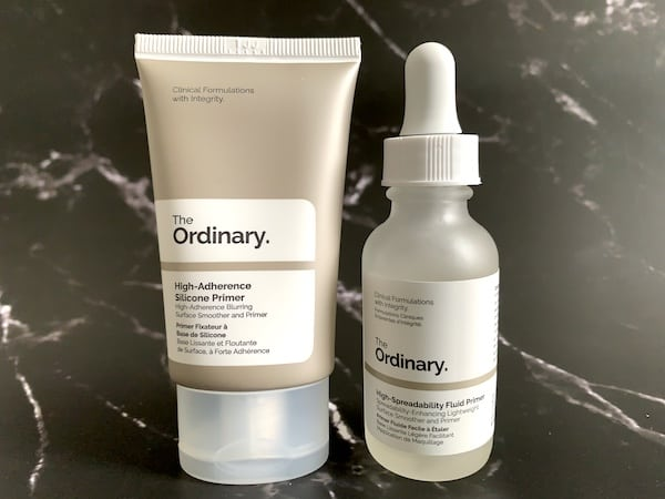 The Ordinary High-Adherence Silicone Primer and The Ordinary High-Spreadability Fluid Primer