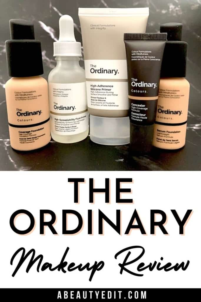 The Ordinary Foundation, Concealer, and Primer Makeup Review